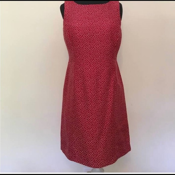 Ann Taylor Dresses & Skirts - Ann Taylor Silk Red Polka Dot Dress